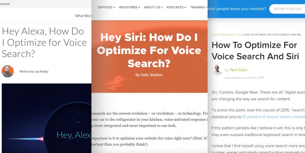 مطالب وبلاگ نویسان در رابطه با جستجوی صوتی گوگل