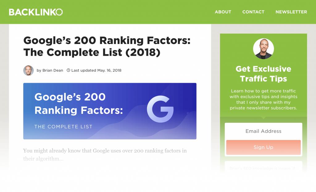 فاکتور های کسب رتبه در گوگل