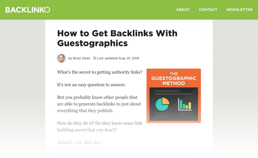 استراتژی سئو و Guestographics