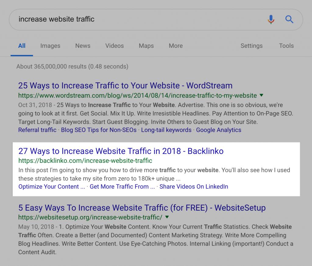 جایگاه مقاله در گوگل