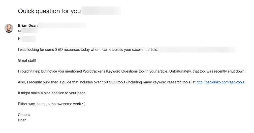 نمونه ایمیل ارسالی یک وبلاگ نویس