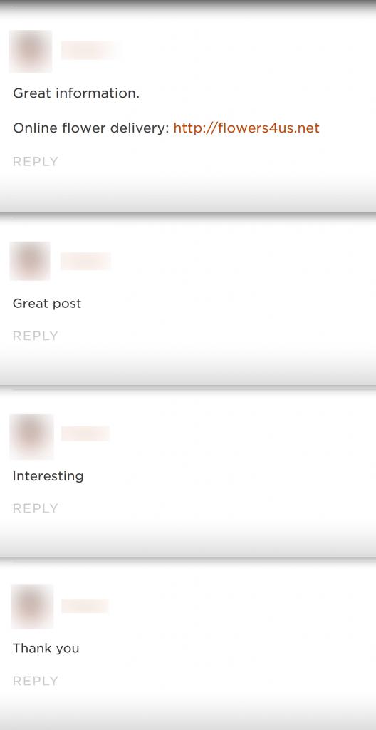 نظرات اسپم در سایت