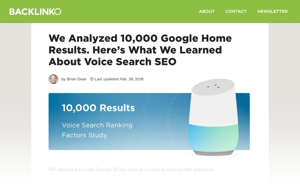 مطالعه موردی در رابطه با جستجوی صوتی گوگل
