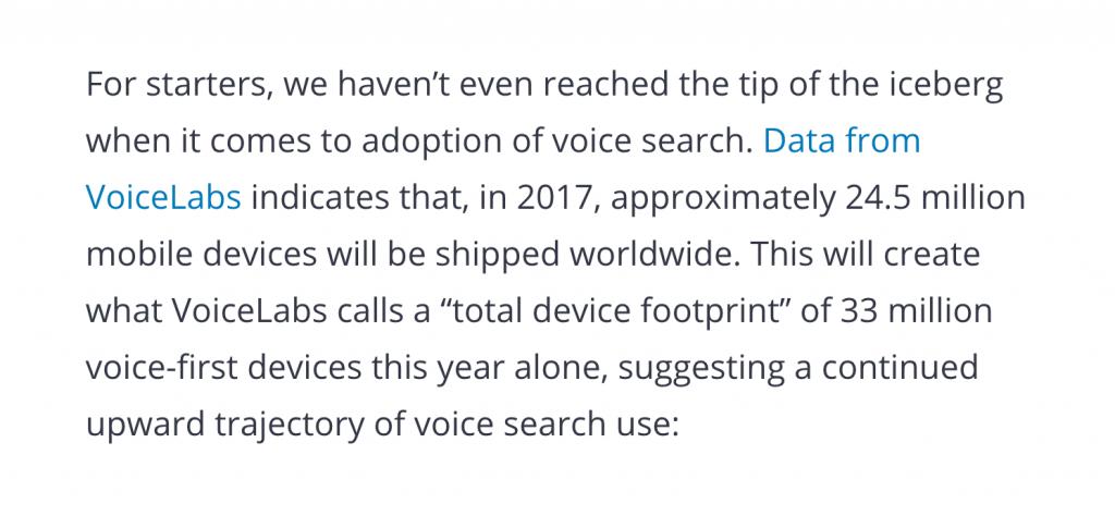 آمار جستجوی صوتی گوگل