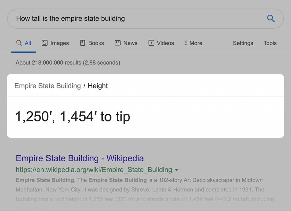 باکس پاسخ گوگل
