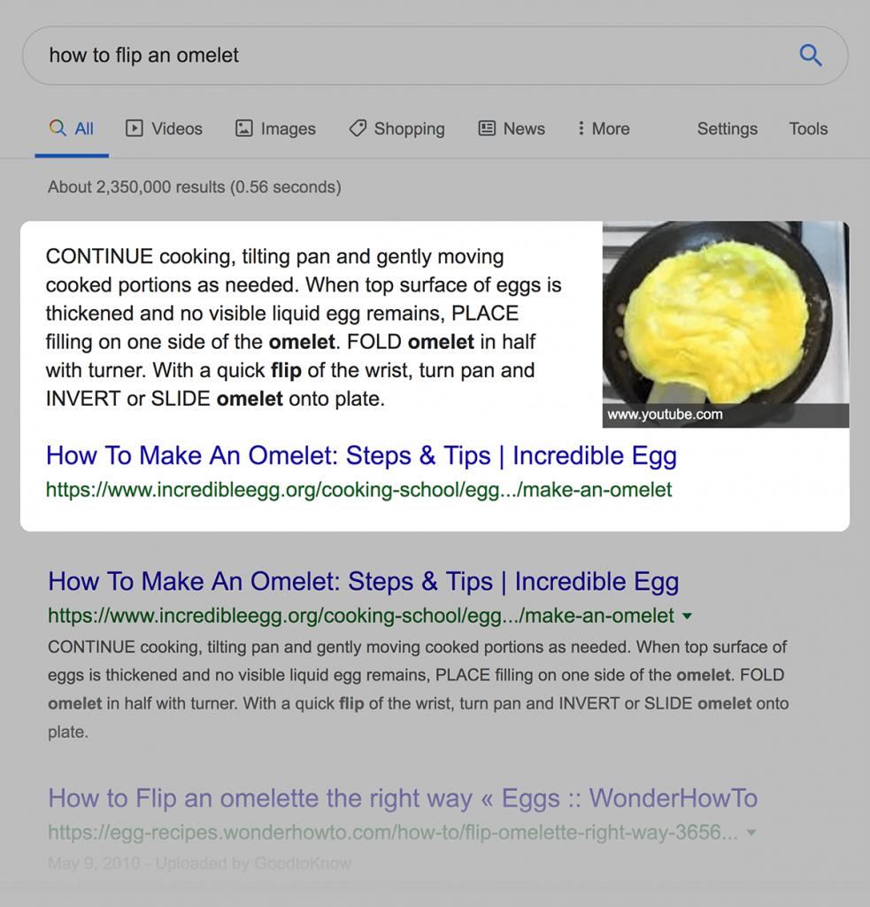 تاثیر پاسخ برجسته گوگل بر نتایج serps