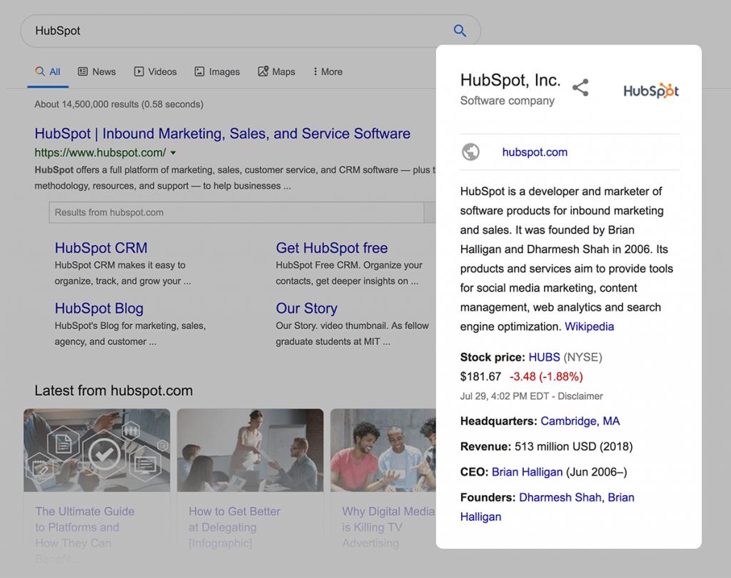 پانل دانش گوگل
